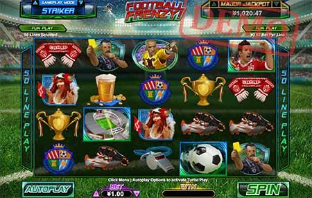 Football Frenzy slot game.
