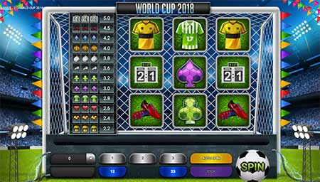 World Cup themed slot game in 1xBit Casino.