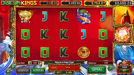 Dragon Kings slot game from BetSoft casino game provider.