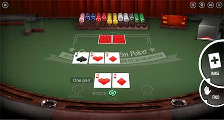 Casino Hold'em table poker game in BitcoinCasino.us