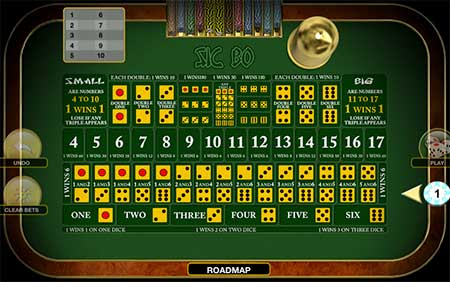 This is an ancient Chinese dice game called Sic Bo. You can play this game with Bitcoin Cash for example at mBit Casino.