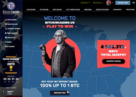BitcoinCasino.us casino lobby. The casino is very scammy. BitcoinCasino.us scam or not?