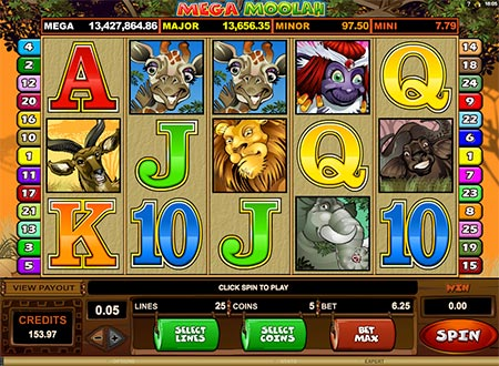 Here is Mega Moolah jackpot slot game from Quickfire. The jackpot was over 13 million US Dollars when adding this image here (28th August 2018)!