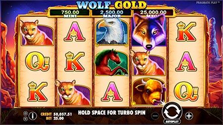 Wolfgold slot game at BitStarz casino from game provider Pragmatic Play.