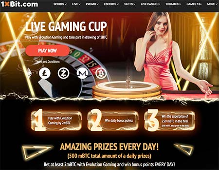 Live Gaming Cup is on at 1xBit Casino!
