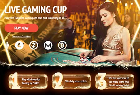 Live Gaming Cup at 1xBit Casino - Your chance to win a share of 1 BTC!