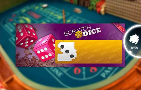 This is a Gold Ticket bonus round in Scratch Dice where the payouts get a big boost.