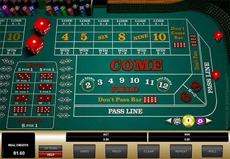 This is Vegas craps from Quickfire. Screenshot from BetChain casino.