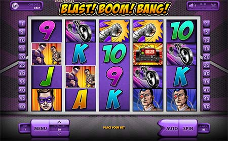 Blast! Boom! Bang! is a cartoon-themed Bitcoin slot game from casino game provider Endorphina. You can play this slot game for example at BetChain.
