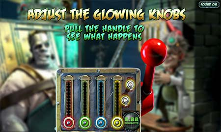 In the Frankenslots bonus round you must find a good combination for the levers to maximize your bonus winnings.