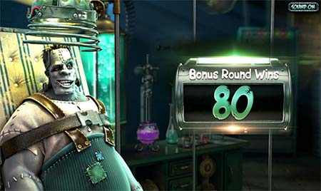 And then the Frankenslot's Monster gets some hits and hopefully you win a lot!