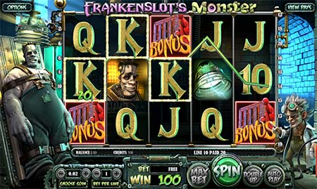 This is Frankenslot's Monster from Betsoft which has one example of bonus rounds. You can play this slot game at BitStarz for example.