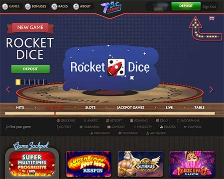 7Bit Casino has introduced a new game called Rocket Dice just recently.