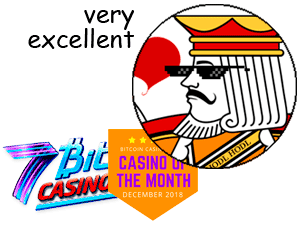 "The King approves 7Bit Casino: ""very excellent"""