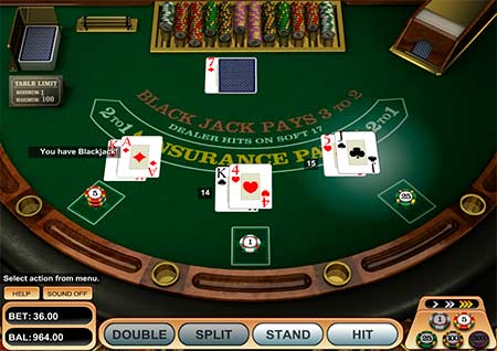 American Bitcoin blackjack by Betsoft looks like this. You can play this at many casinos like for example FortuneJack.
