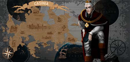 This is King Billy, the ruler of Casinia.