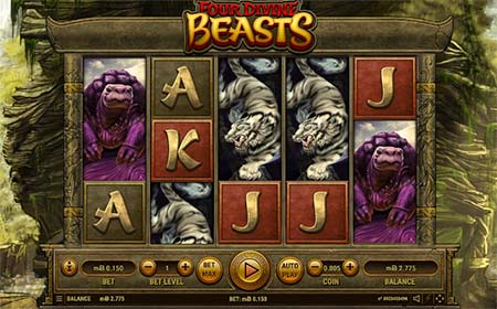 Four Divine Beasts slot game from Habanero.