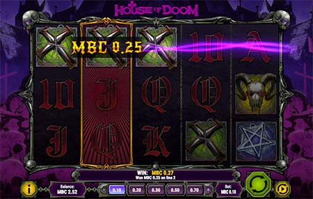 This if House of Doom 5-reel slot game from Play n'Go.