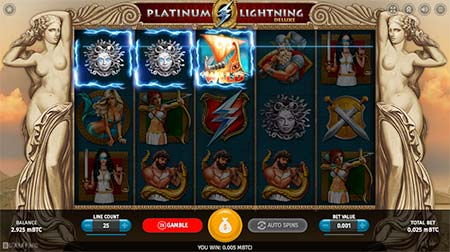 This is Platinum Lightning Deluxe slot game from casino game provider BetSoft.