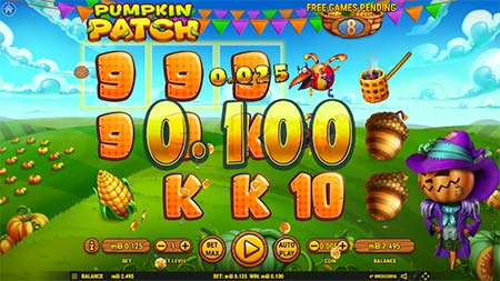 Pumpkin Patch 3-reel slot game from Habanero.