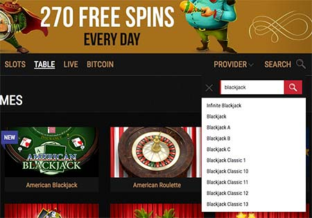 King Billy casino game search could be something to improve. Otherwise the casino lobby works quite fast and the information (terms, bonuses etc.) is very clearly presented.