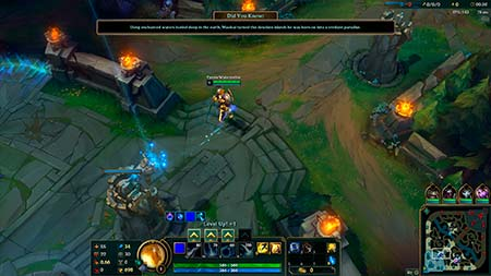 A screenshot from the eSports game League of Legends (LOL).