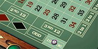 Roulette bet on 19 to 36
