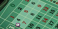 European roulette six line bet