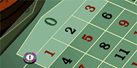 European roulette - top of the line or basket bet