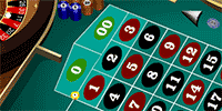 American roulette - top of the line or basket bet