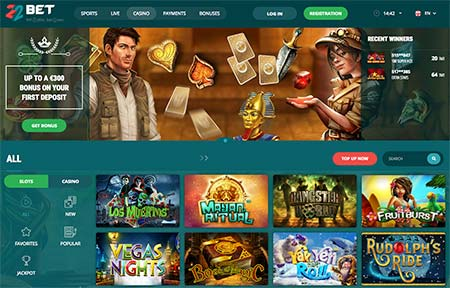 22Bet has also a lot of casino games to choose from.