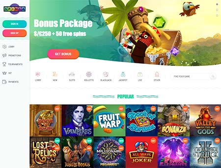 This is Spinia which is not yet accepting cryptocurrencies. You can however gamble with Euros, US Dollars, Canadian Dollars, Swedish Krona, Norwegian Krone, Russian Ruble, Polish Zloty and New Zealand Dollars.