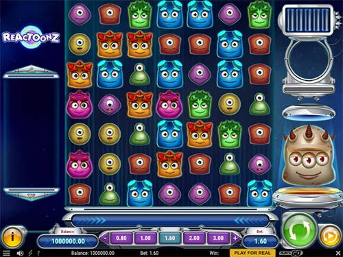 This is 7-reel slot game Reactoons from Play n' Go game provider.