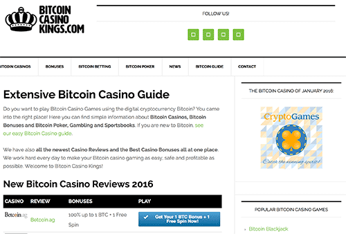 This is how Bitcoin Casino Kings looked in January 2016.