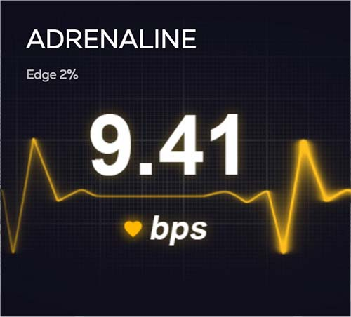 Adrenaline game at FortuneJack.