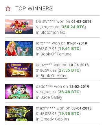 BitStarz huge BTC jackpots