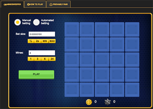 Minesweeper on Crypto Games