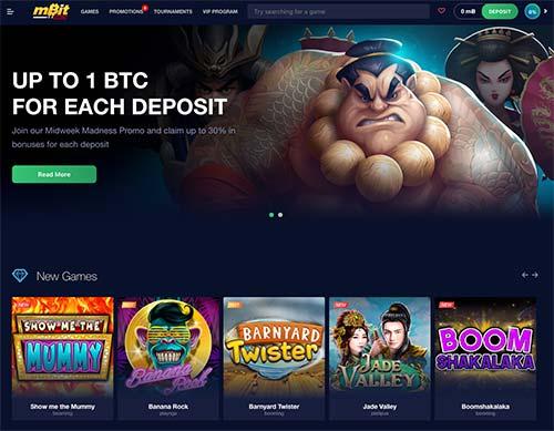 mBit Casino lobby