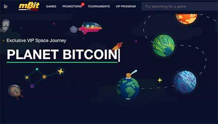 mBit Casino planetary VIP levels