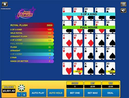 Joker Poker from Habanero.