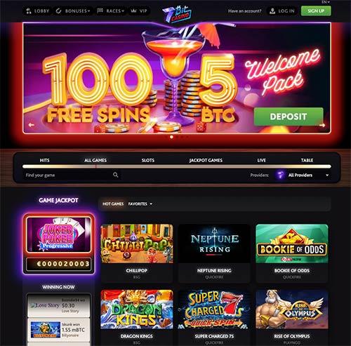 The new look of 7Bit Casino.