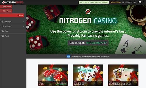 Nitrogen Sports provably fair casino games.