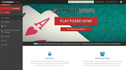 Nitrogen Sports live poker.