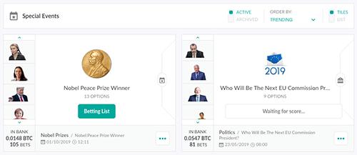 Politics Bitcoin betting at OneHash