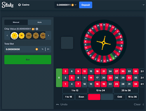 Stake.com roulette