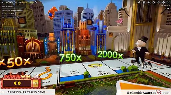 3D bonus round Monopoly