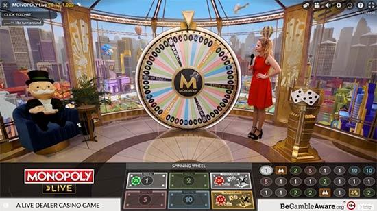 Cloudbet Monopoly live casino game