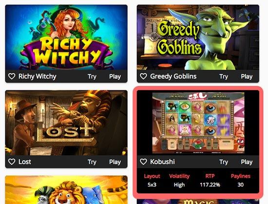 Oshi Casino Return to player percentage