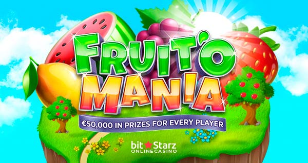 Fruit'O Mania is now on at BitStarz Casino!