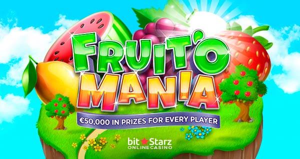 Fruit'O Mania is now on at BitStarz Casino!